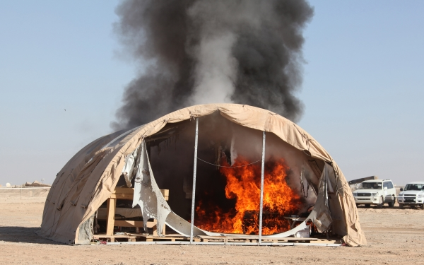 local fire destroys tent
